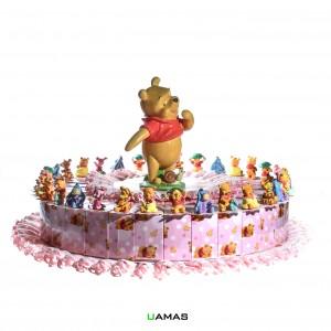 Torta Disney Winnie The Pooh Rosa 32 Pezzi