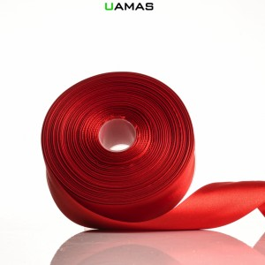 Nastro raso H40mm Rosso