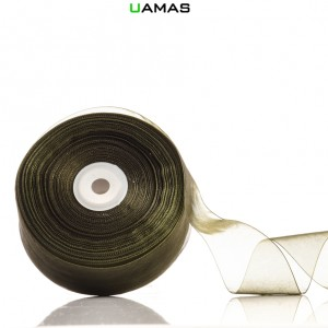 Nastro Organza H40mm Verde