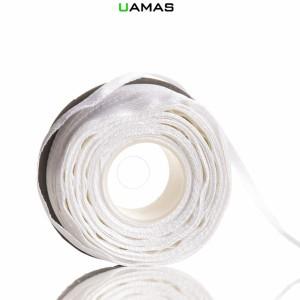Nastro raso H3mm Bianco