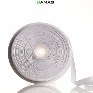 Nastro Gros Grain H10mm Bianco