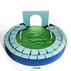 Struttura Circolare Campo Calcio in Cartone